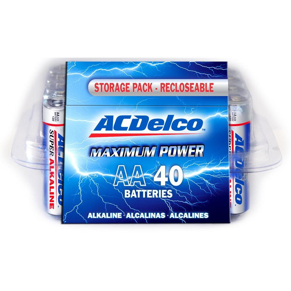 ACDelco Super Alkaline AA Battery (40-Pack)