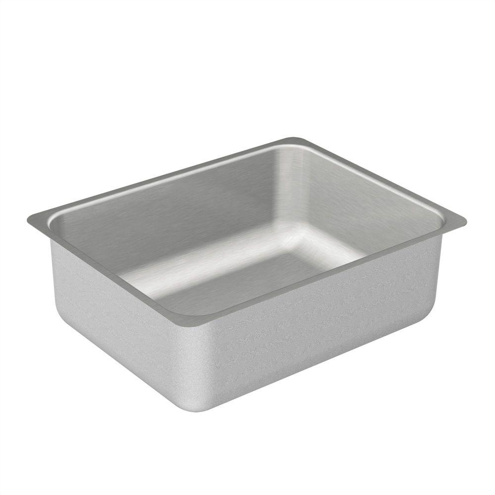Moen 2000 series undermount stainless steel 23 in single bowl kitchen sink g20192 the home depot - Kitchen sink specifications ...