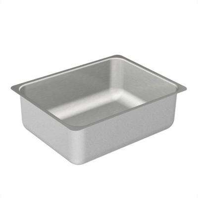 2000 Series Undermount Stainless Steel 23 in. Single Bowl Kitchen Sink