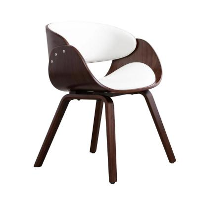 Ravenna White Synthetic Leather Lounge Chair