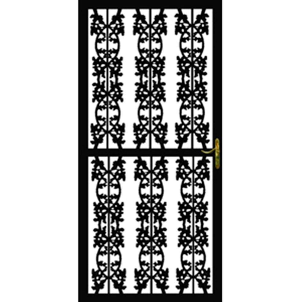 Grisham 36 in. x 80 in. 303 Series Black Navajo Security Door