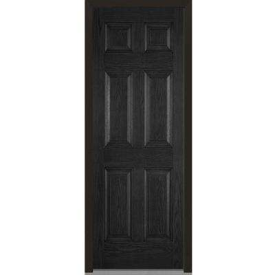 36 in. x 96 in. Right-Hand Inswing 6-Panel Classic Stained Fiberglass Oak Prehung Front Door
