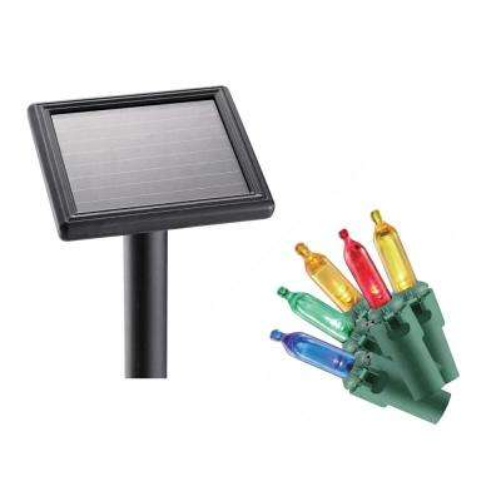 8 ft. 110-Light LED Multi-Color Smooth Mini Solar Icicle Light String