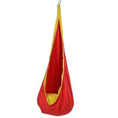 5 ft. Fabric Kid's Hammock Nest for Children in Red