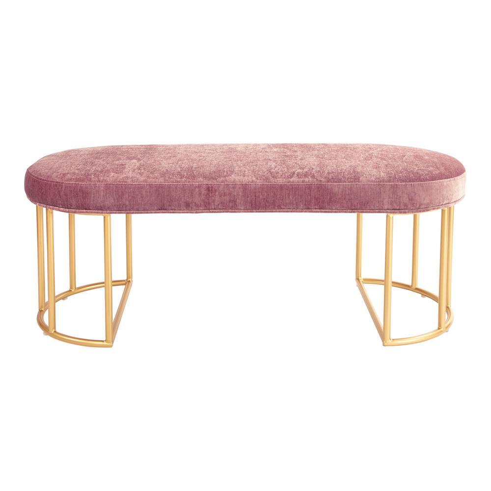Furniture of America Lorena Antique Oak Upholstered Bench CM-BN6620