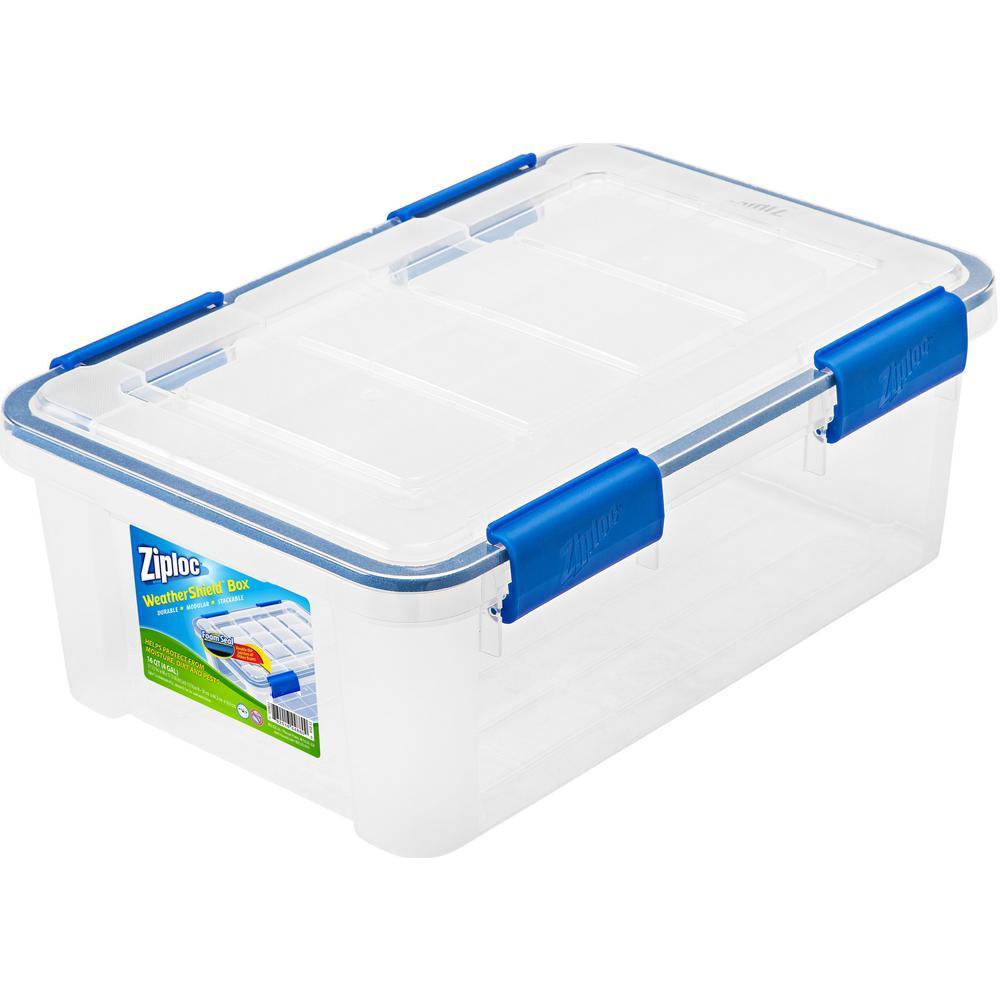 16 Qt. Ziploc Weather Shield Storage Box in Clear