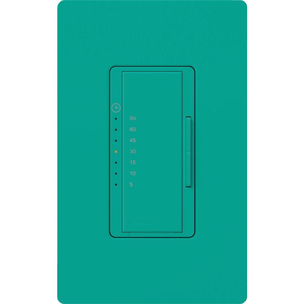 Maestro 600-Watt/VA Multi-Location/Single Pole Countdown Timer - Turquoise