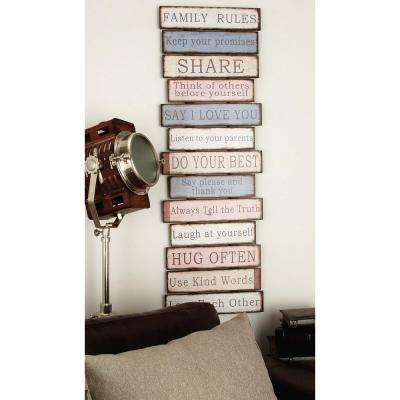 16 in. x 49 in. New Traditional Wood Stacked Inspirational Sayings Wall Decor