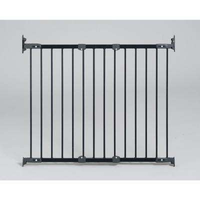 31 in. H Hardware Mount Gate Angle Mount Safeway Wall Mounted Gate in Black
