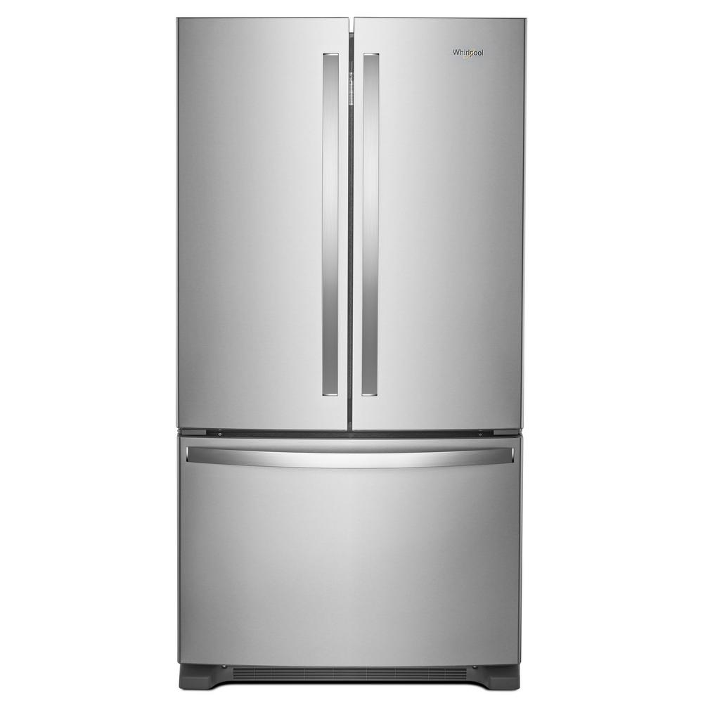 Whirlpool 36 In W 250 Cu Ft French Door Refrigerator In