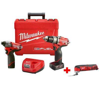 M12 FUEL 12-Volt Lithium-Ion Cordless Brushless 1/2 in. Hammer Drill/Driver and Impact Combo with Free M12 Multi-Tool