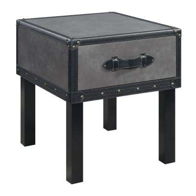 Newport Gray Transitional End Table