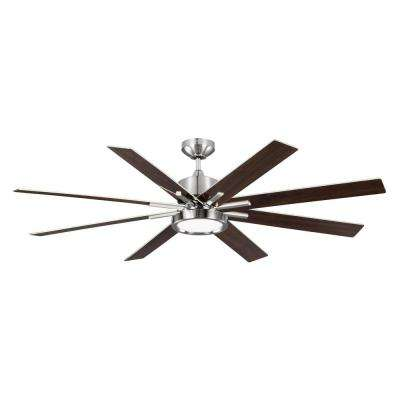 Empire DR 60 in. Brushed Steel Ceiling Fan
