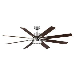 Home decorators collection 60 in indoor zolman pike integrated led brushed steel ceiling fan monte carlo swarovskicordoba Image collections