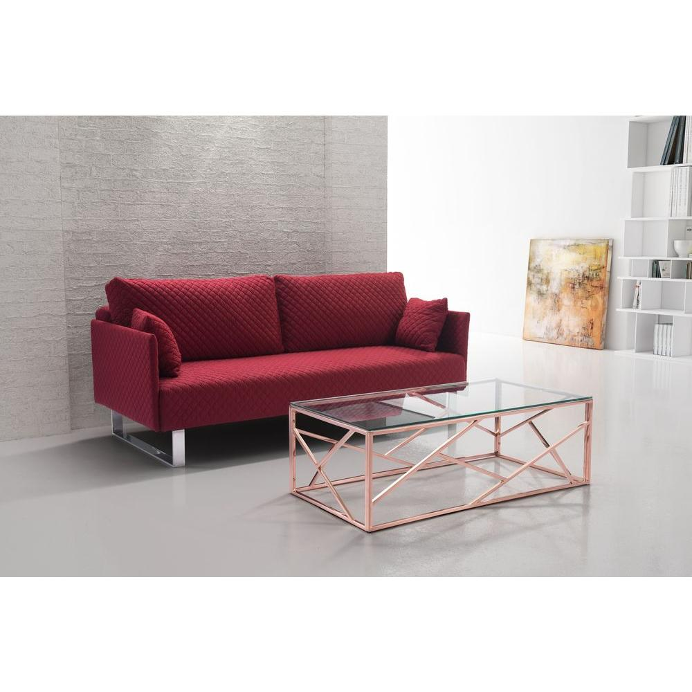 zuo cage rose gold coffee table 100180 the home depot. Black Bedroom Furniture Sets. Home Design Ideas