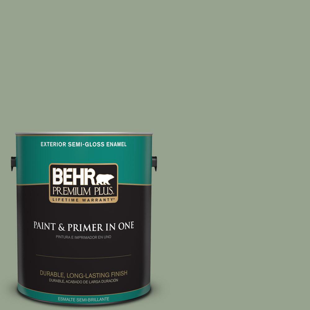 1-gal. #N390-4 Bitter Sage Semi-Gloss Enamel Exterior Paint