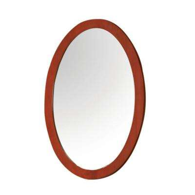 Casaya 24 in. W x 0.75 in. D x 37 in. H Large Mirror in Cherry Finish