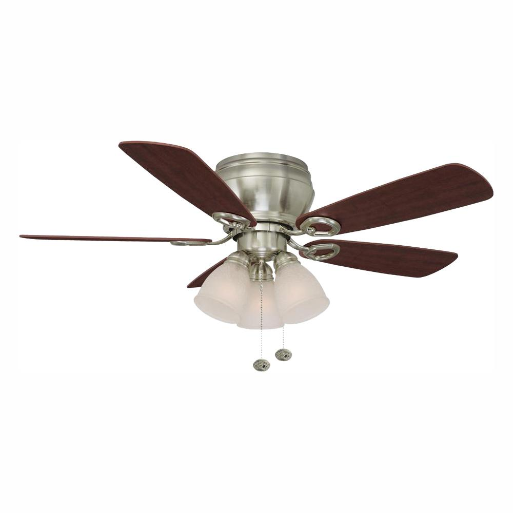 Whitlock 44 in. LED Indoor Brushed Nickel Ceiling Fan with Light Kit