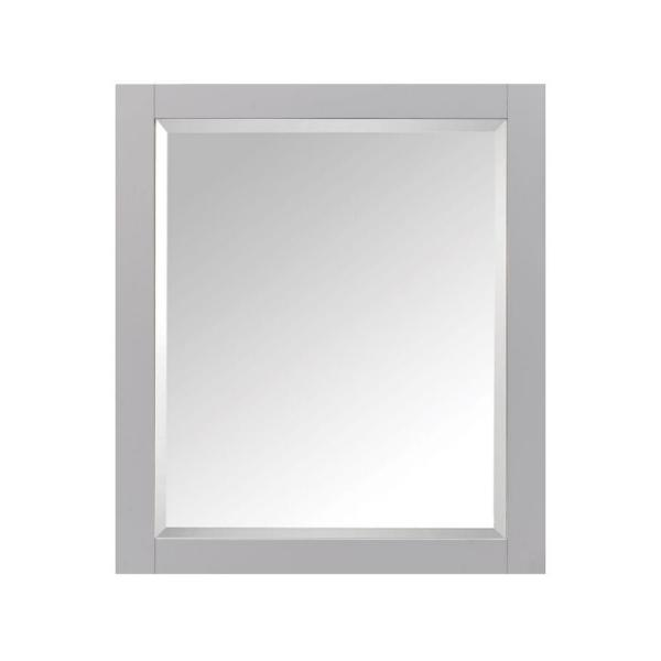 28 in. W x 36 in. H x 6-1/4 in. D Framed Surface-Mount 2-Shelf Bathroom Medicine Cabinet in Chilled Gray