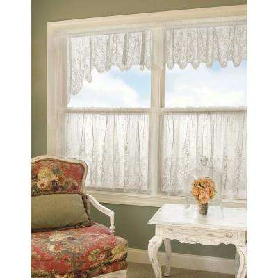 Floret 60 in. L Polyester Valance in White