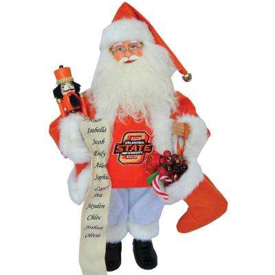 15 in. OK Cowboy Santa with Nutcracker