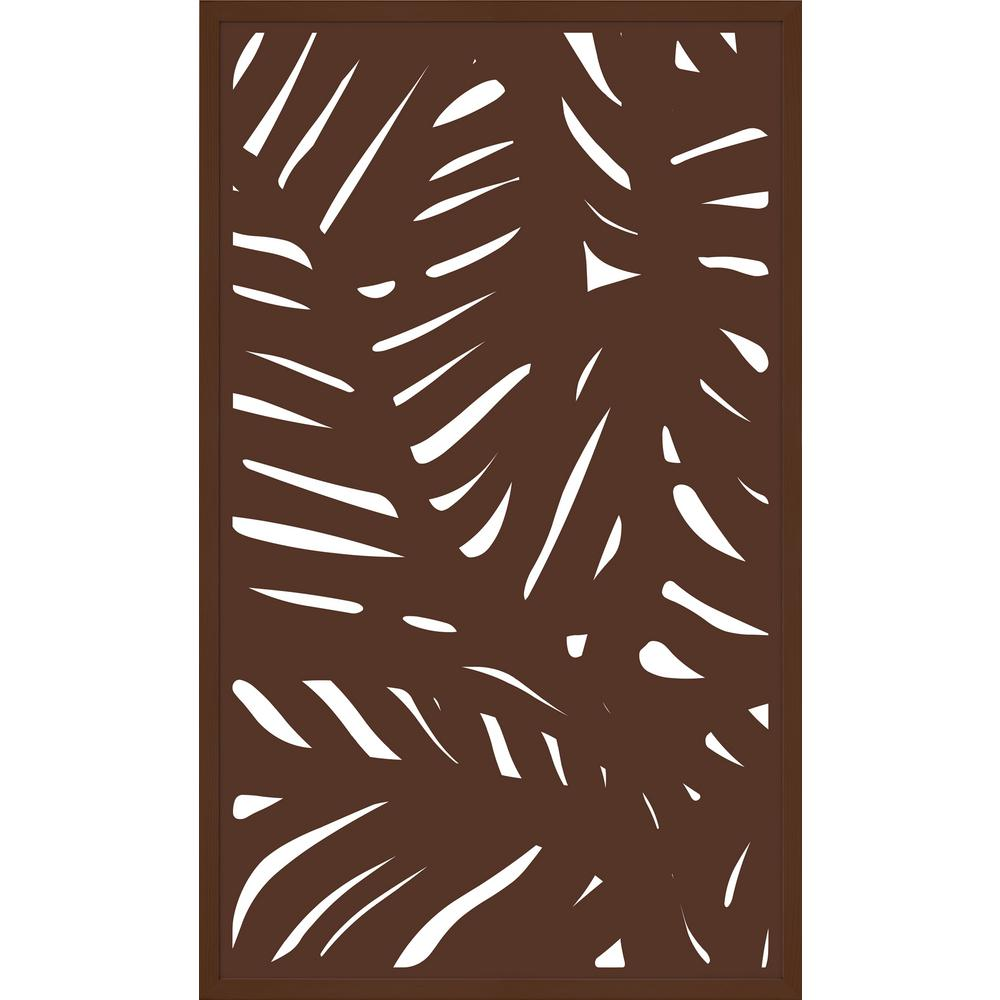 5 ft. x 3 ft. Espresso Brown Composite Framed Modinex Decorative