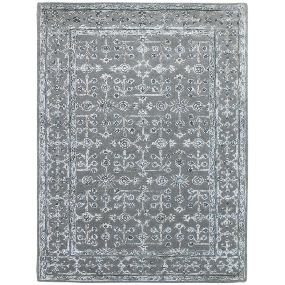 Ursha Steel Blue 5 ft. x 8 ft. Rectangle Area Rug