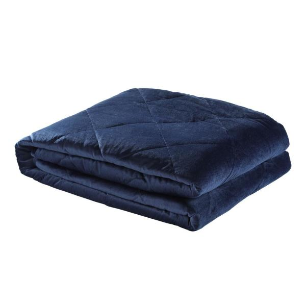 Deka 2-in-1 Warm and Cool Navy Weighted Blanket 15 lbs. 48 in. x 72 in.