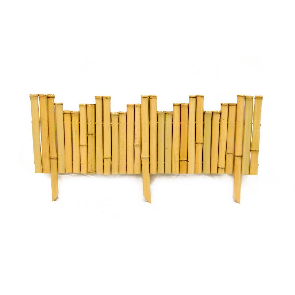 Backyard X-Scapes 23 in. L x 8 in. H x 0.875 in. D   Bamboo Natural Border Edging (12-Piece/Case)