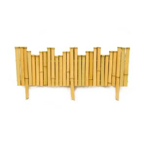 23 in. L x 8 in. H x 0.875 in. D   Bamboo Natural Border Edging (12-Piece/Case)