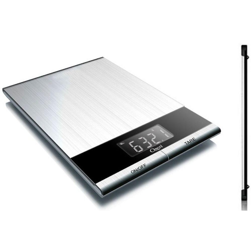 Ozeri Ultra Thin Professional Digital Kitchen Food Scale in ...