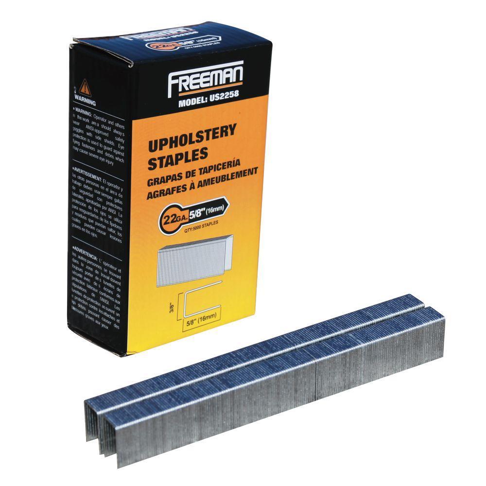 Freeman 22 Gauge 5 8 In Upholstery Staples 5 000 Per Box Us2258