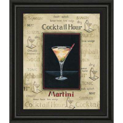 "22 in. x 26 in. ""Martini"" by Gregory Gorham Framed Printed Wall Art"
