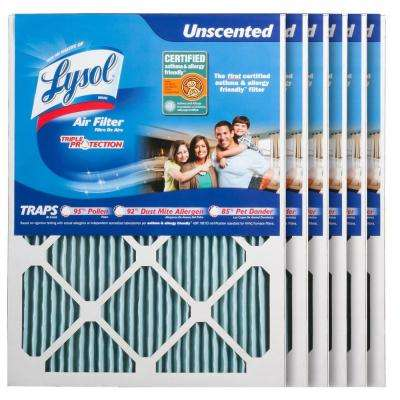 16 in. x 20 in. x 1 in. Certified Asthma and Allergy Triple Protection Air Filter (6-Pack)