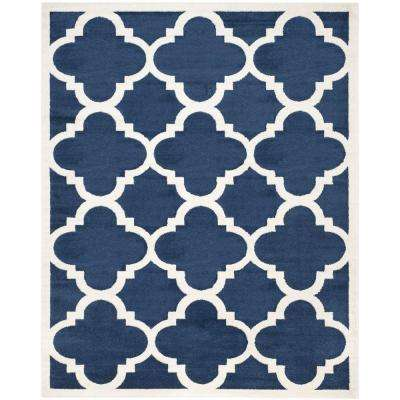 8 X 10 Blue Outdoor Rugs The Home Depot