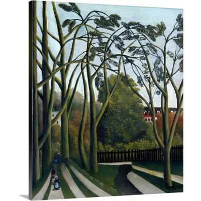 "20 in. x 24 in. ""The Banks of the Bievre near Bicetre"" by Henri Rousseau Canvas Wall Art"