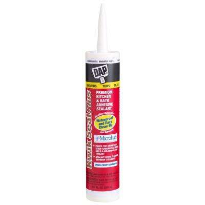 Kwik Seal Plus 10.1 oz. White Kitchen and Bath Adhesive Caulk with Microban