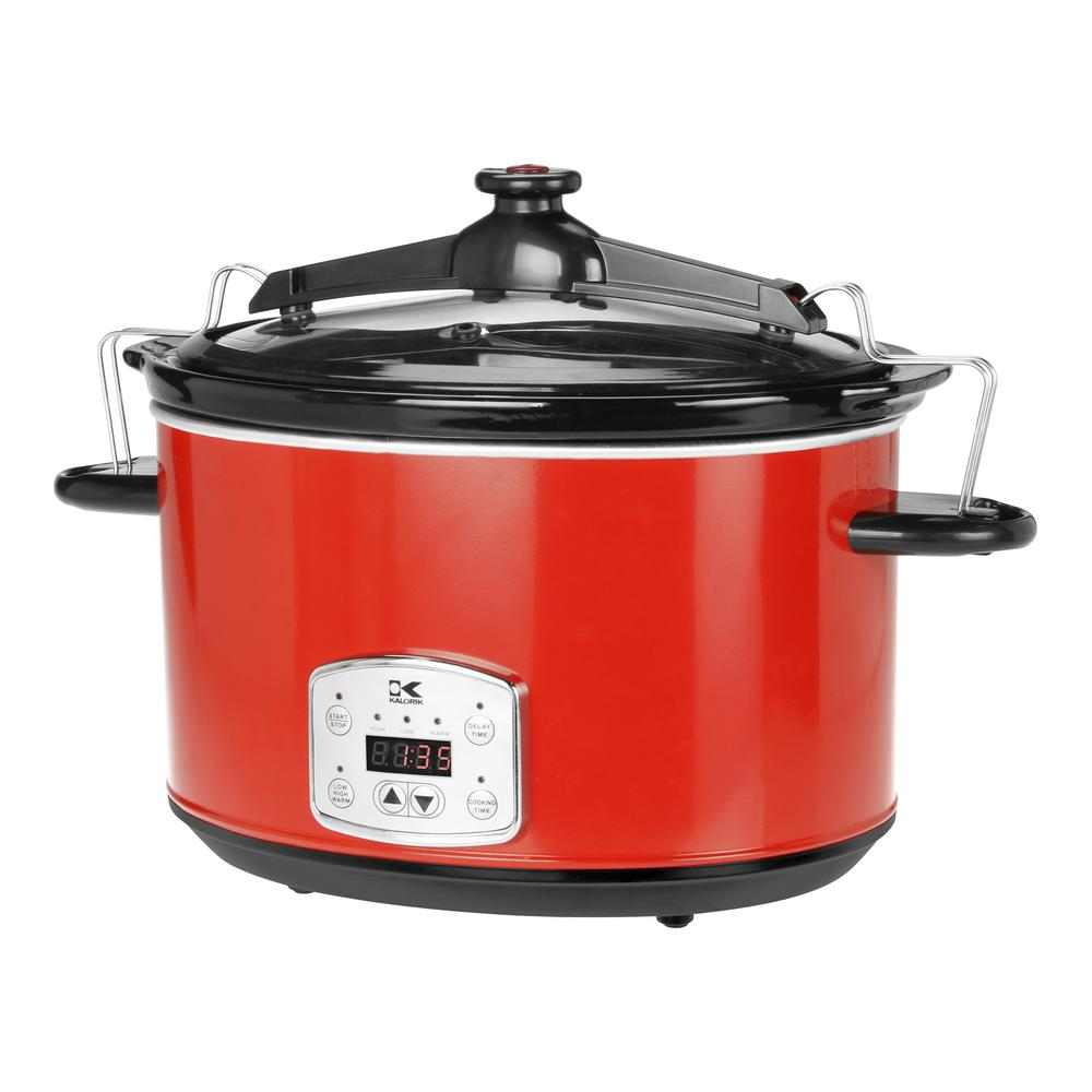 8 Qt. Slow Cooker, Red