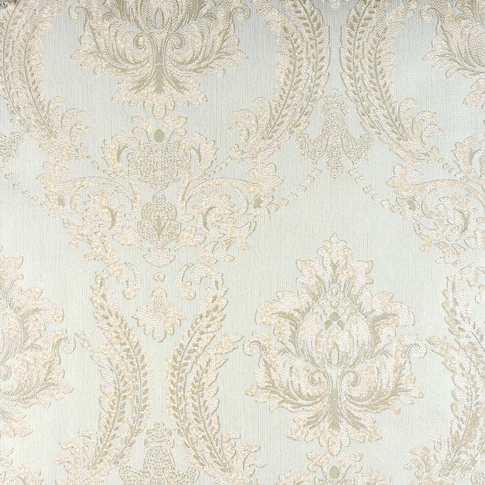 57.8 sq. ft. Maizey Mint Damask Wallpaper