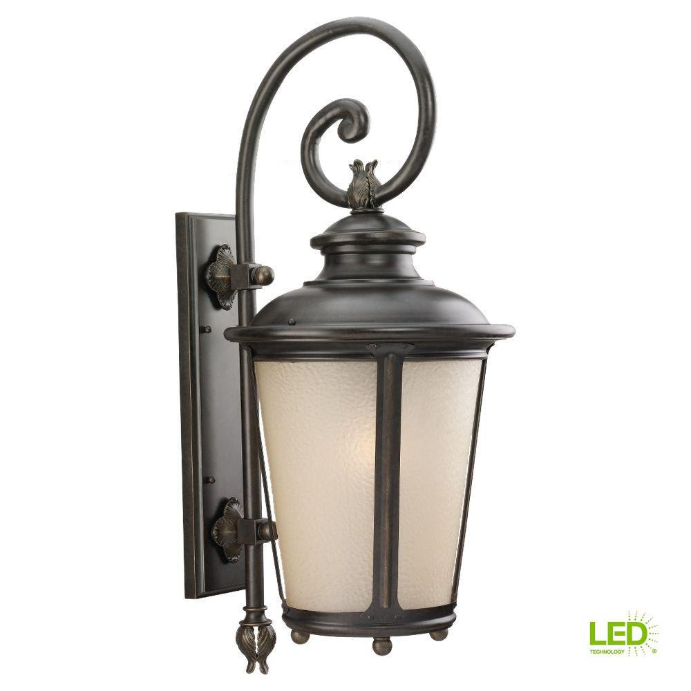 Cape May 1-Light Outdoor Burled Iron Wall Mount Fixture