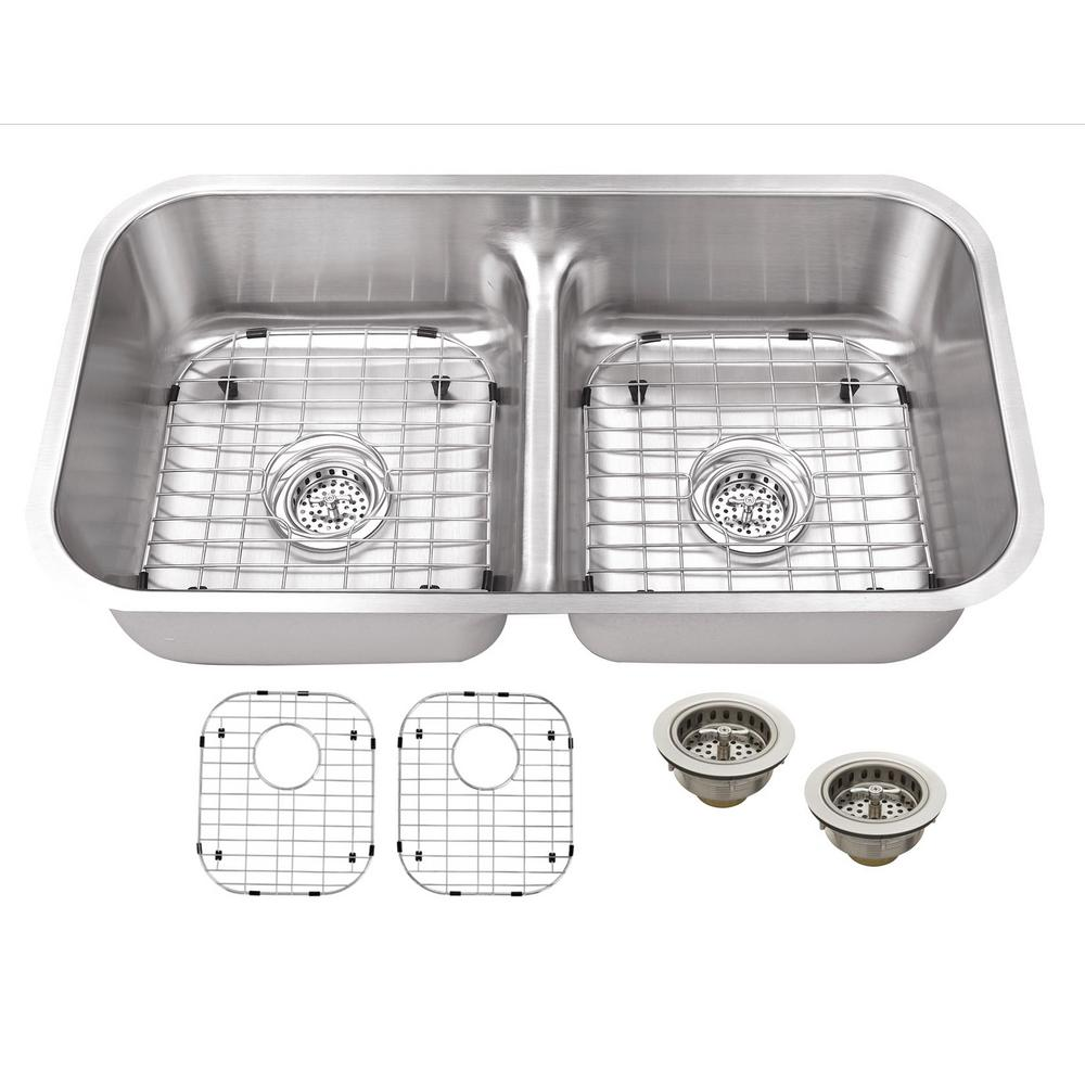 Ipt Sink Company Undermount 33 In 18 Gauge Stainless