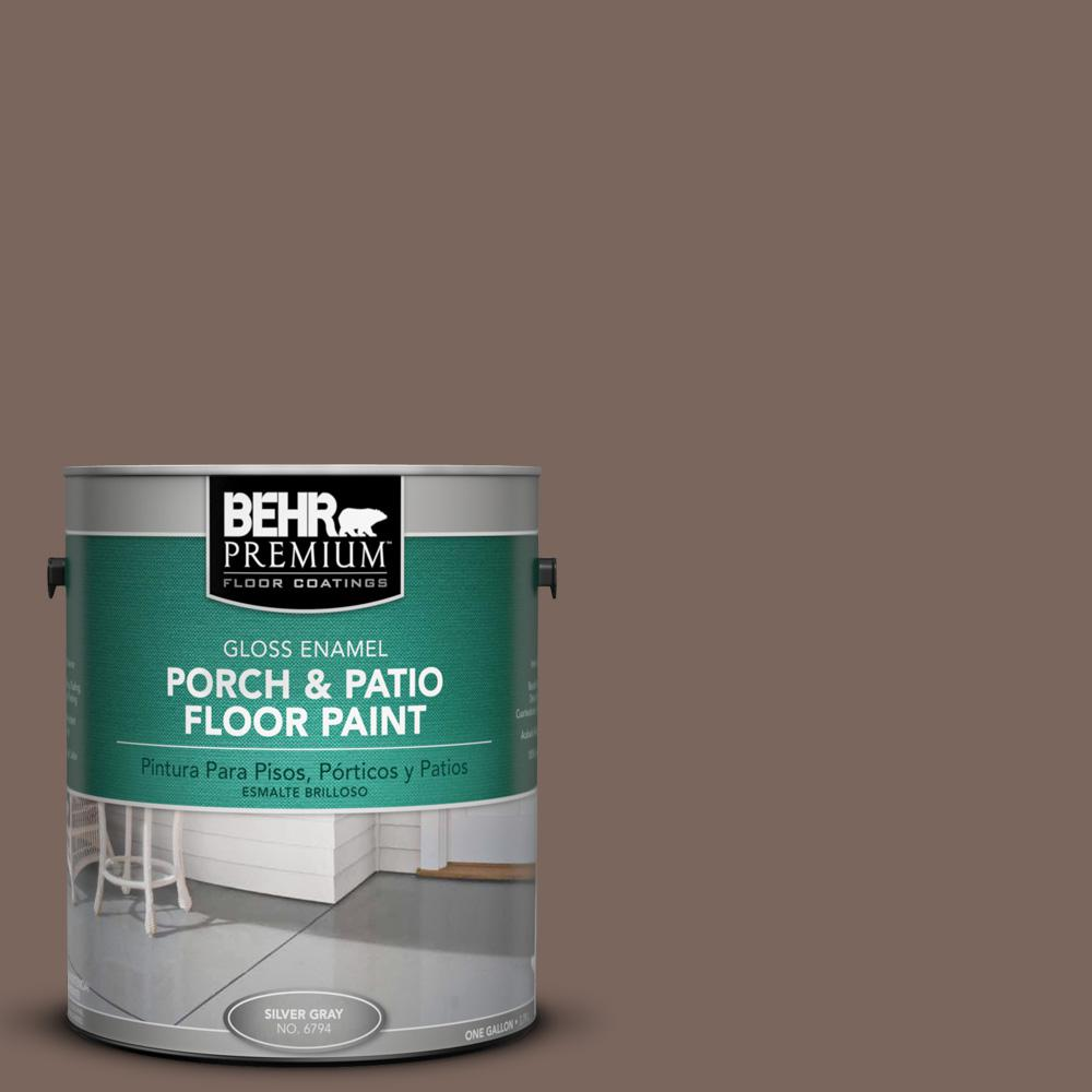1 gal. #AE-5 Chocolate Brown Gloss Porch and Patio Floor Paint