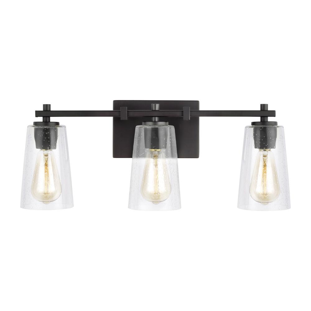 Feiss mercer 3 light oil rubbed bronze bath light - Bathroom lighting oil rubbed bronze ...