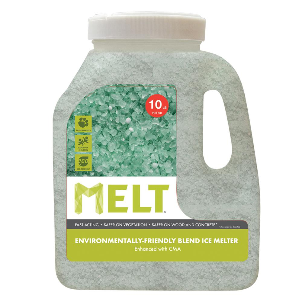 snow joe melt 10 lb jug premium environmentally friendly blend ice