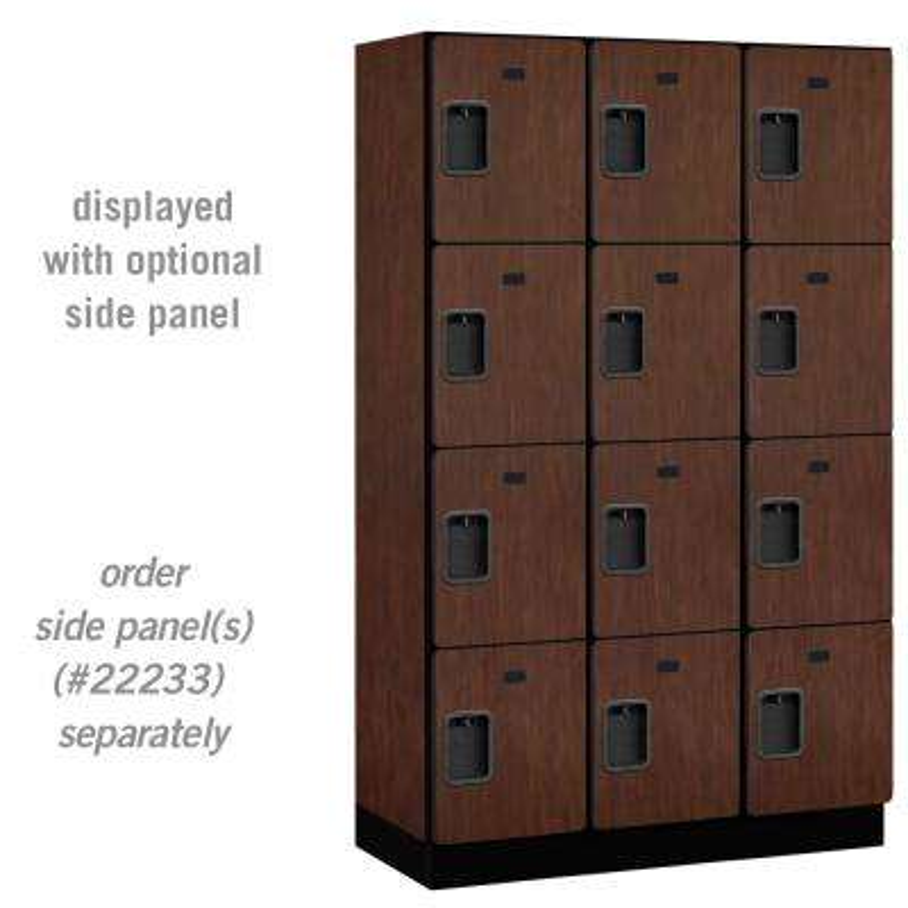 24000 Series 4-Tier 18 in. D Extra Wide Designer Particle Board Locker in Mahogany