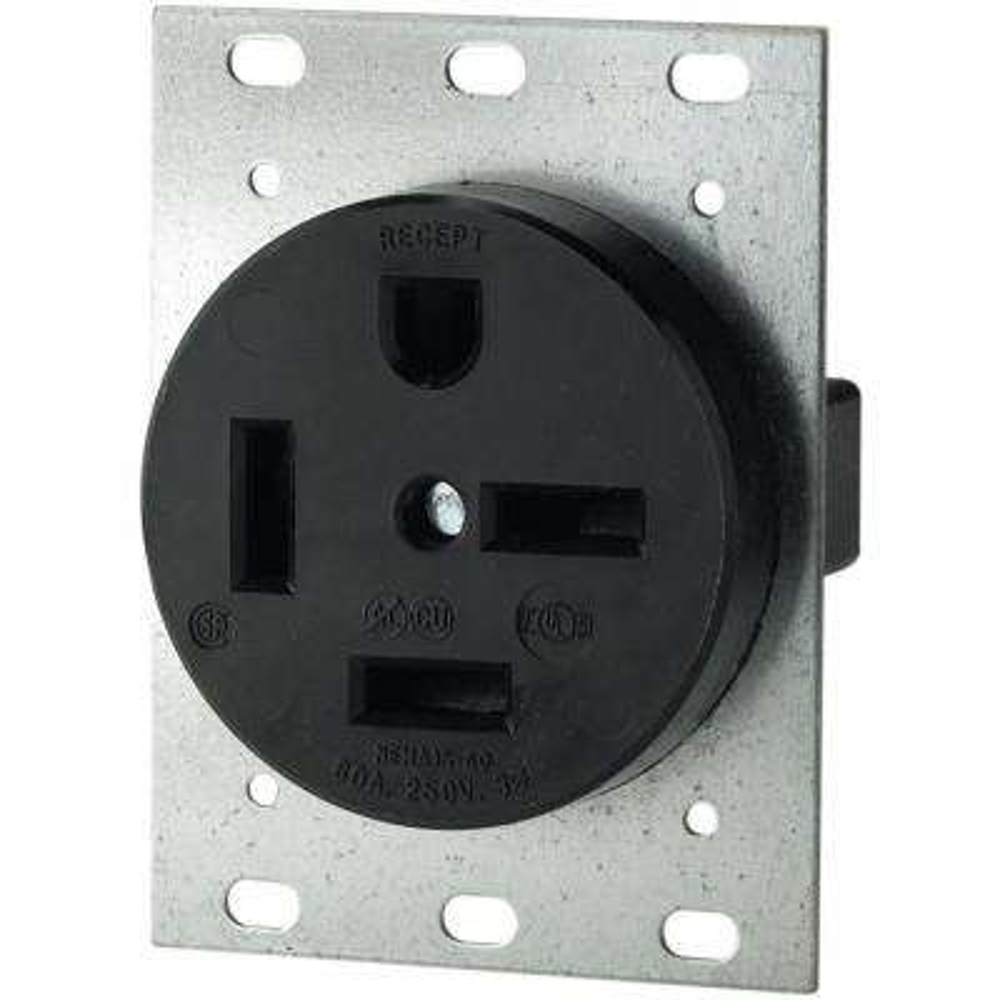 60 Amp 250-Volt 15-60 3-Pole/4-Wire Power Receptacle