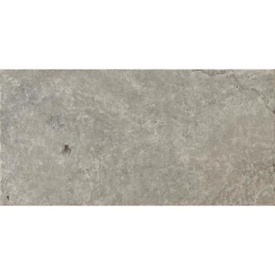 Trav Ancient Tumbled Silver 7.99 in. x 15.98 in. Travertine Floor and Wall Tile (0.89 sq. ft.)