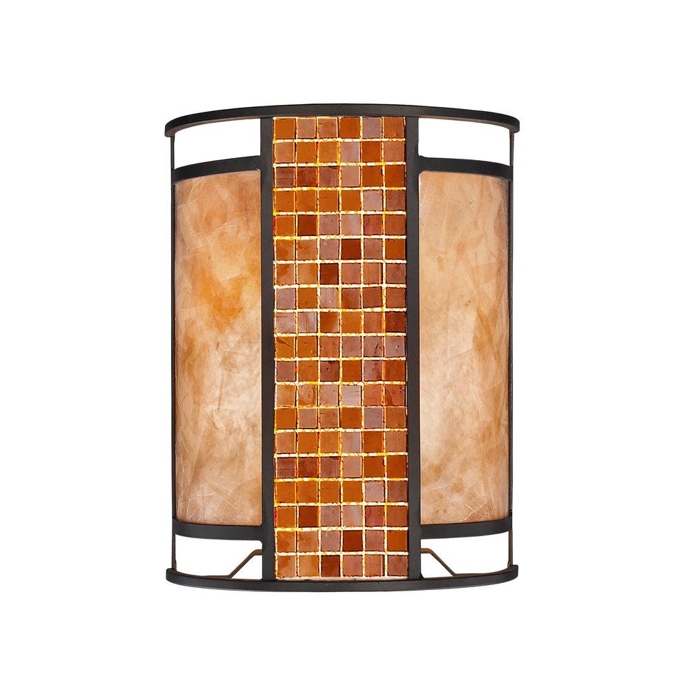 Brooke 2-Light Bronze Wall Sconce