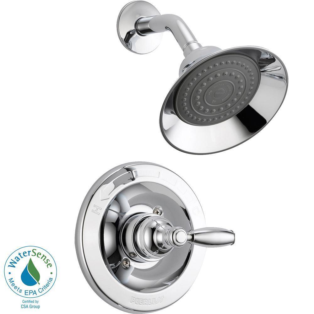 Peerless Single Handle Shower Faucet Trim Kit In Chrome Valve Not