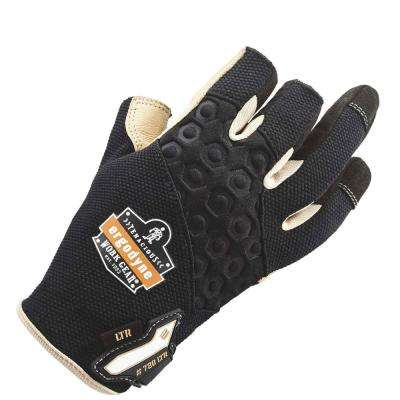 Large Black Heavy-Duty Leather-Reinforced Framing Gloves